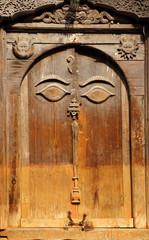 Beautiful ancient door inside the Nasal Chowk Courtyard