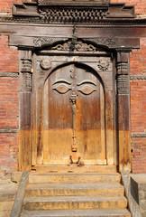Ancient door in Hanuman Dhoka Durbar
