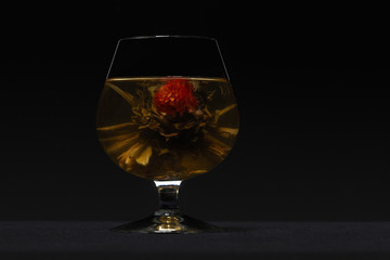 Glass with chinese tea