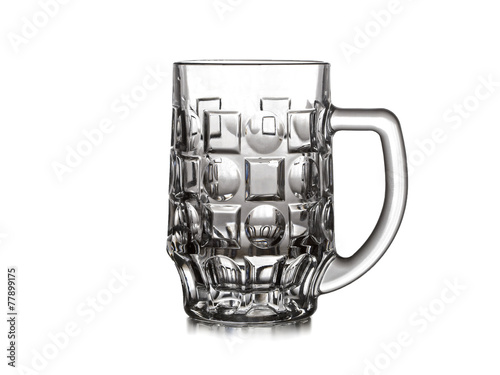 canvas print picture Beer mug on white background