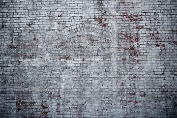 Heruntergekommene Backstein Mauer