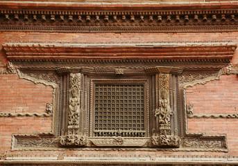 Beautiful ancient window in Nasal Chowk Courtyard