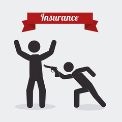 Insurance design, vector illustration.
