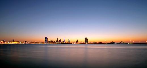Bahrain skyline during sunset