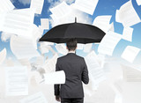 businessman with umbrella - Fine Art prints