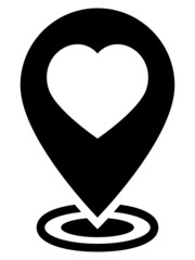 Like map pointer icon