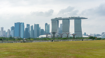 Singapore skyline, from marina barrage