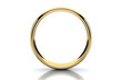 Gold ring isolated on white background - 77900902