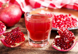 pomegranate  juice with fresh fruits