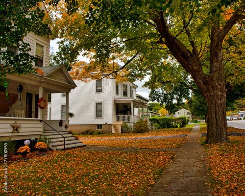 Leinwandbild Motiv autumn street