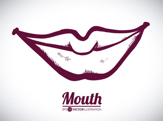 mouth woman design