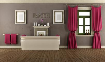 Luxury bathroom in old style