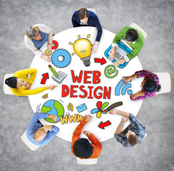 Web Design Brainstorming Business Discussion Strategy Concept