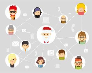 Векторные рождественские инфографики людей