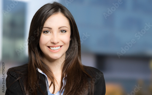 canvas print picture Smiling beautiful businesswoman