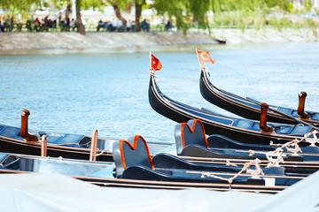 Gondolas in the river