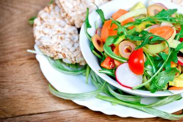 Fresh salad - vegetarian food