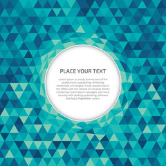 Crystal background with circle space for text