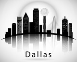 Fototapety Dallas silhouette. Cities Skyline