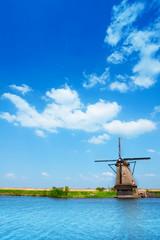 Image of windmill in Netherlands near Rotterdam