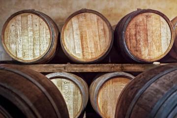 Oak barrels for wine fermentation