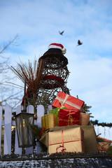 Dekoration zu Weihnachten mit Präsenten
