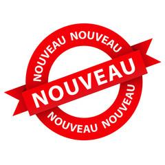 Tampon Publicitaire NOUVEAU (bannière nouveauté publicité)