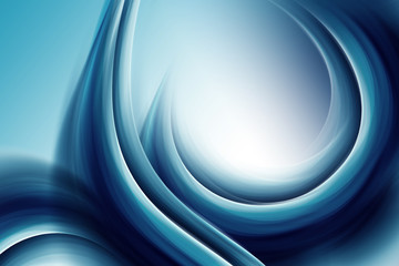 Beautiful Blue Waves On a Blue Background