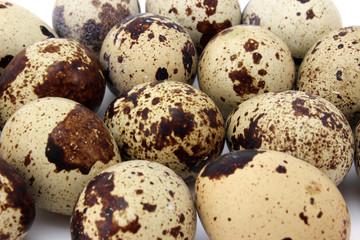 Background quail eggs