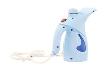 Portable steamer for clothes isolated