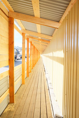 Long wooden tunnel