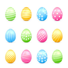 Easter eggs with decor