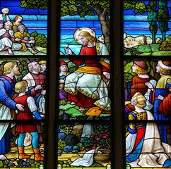 Feeding the multitude - Stained Glass of Jesus
