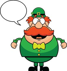 Cartoon Leprechaun Happy