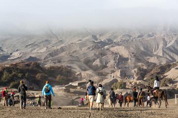 Touristes au mont Bromo