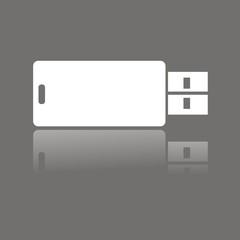 Icono USB FO reflejo