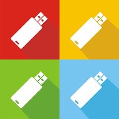 Icono USB colores sombra