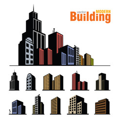 Vector buildings set