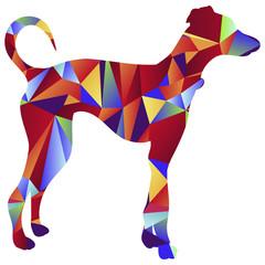Polygon Greyhound Dog Icon