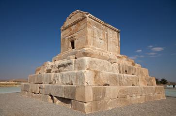 Cyrus Tomb in Pasargadae of Shiraz