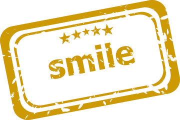 smile stamp isolated on white background