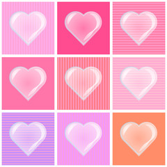 Valentine background with heart bubble