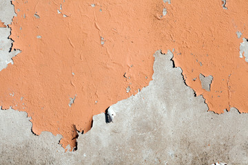 peeling painted cement wall