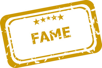 fame stamp isolated on white background