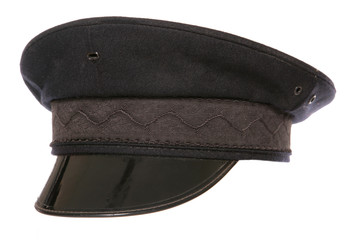 black chauffeur fancy dress hat