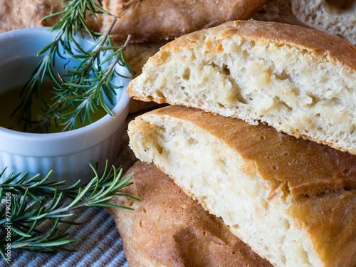 Ciabatta bread with fresh rosemary
