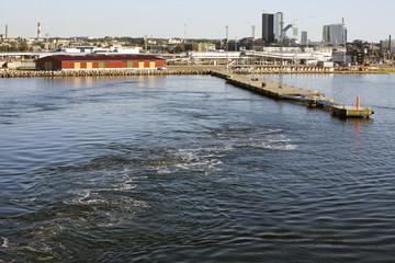 Copenhagen Harbour. Industrial area