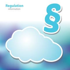 information boards - regulation - decree - symbol cloud - blank