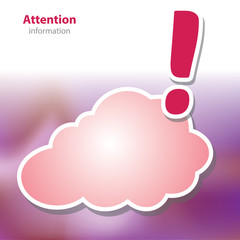 information boards - beware warning - symbol cloud - blank backg