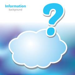information boards - Question mark - symbol cloud - blank backgr